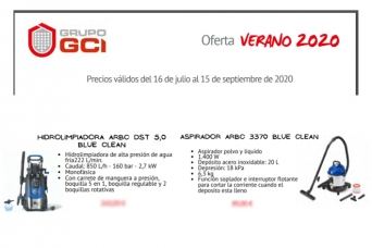 Nuevo folleto GCI Verano con Ar blue clean